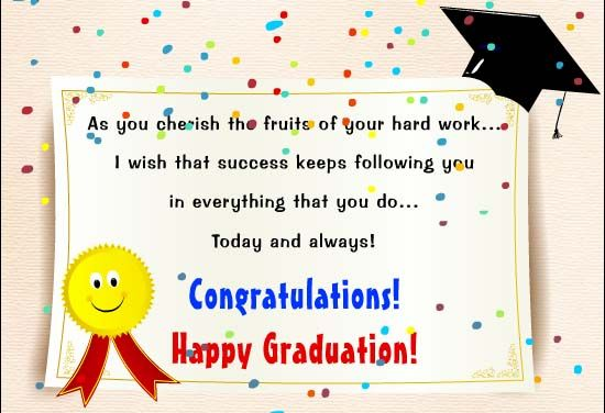 I Congratulate You On Your Academic Achievement May Success