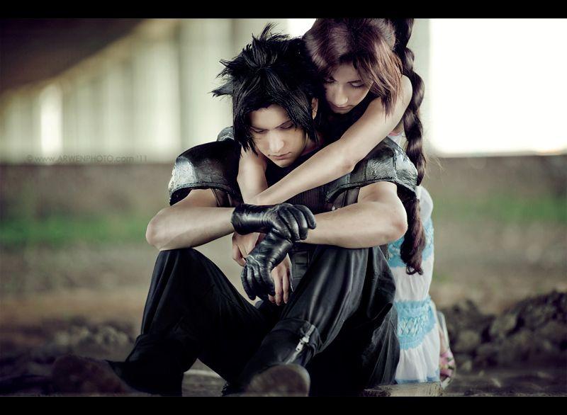 Final Fantasy VII: Crisis Core.  Zack and Aerith: No words by Narga-Lifestream.deviantart.com