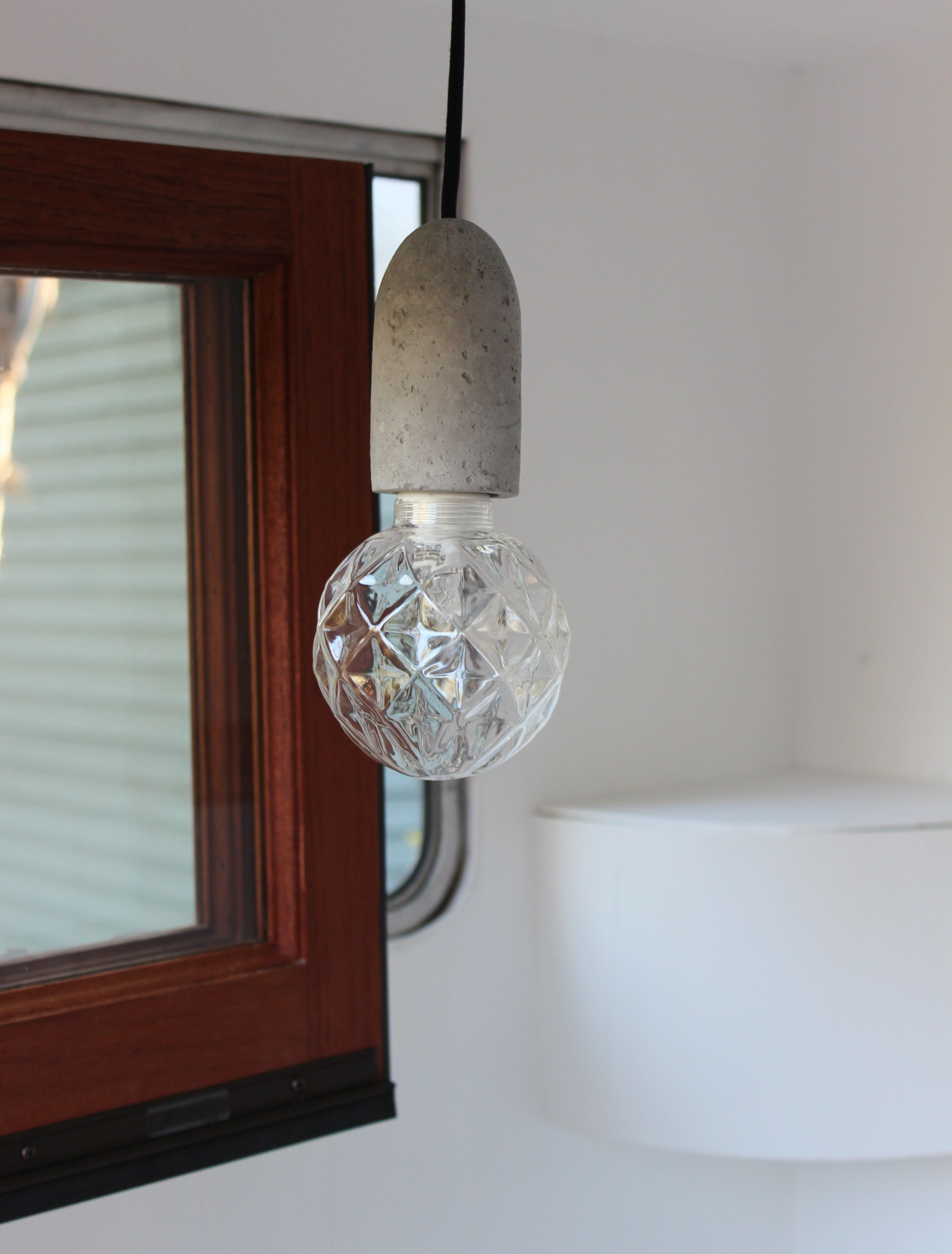 new pendant lighting. My Vintage Caravan Makeover - New Concrete Pendant Lights Lighting
