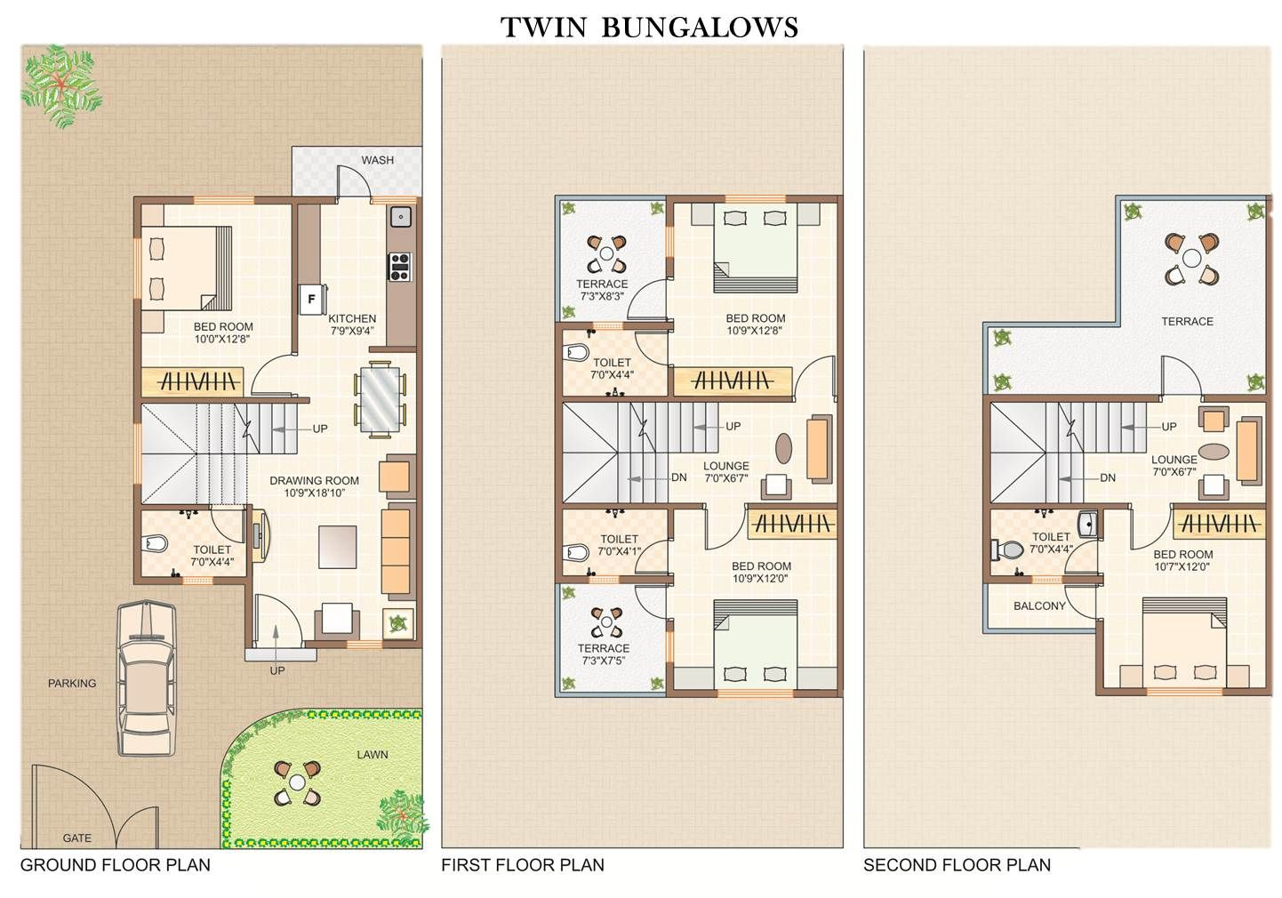 Twin House Floor Plans In India