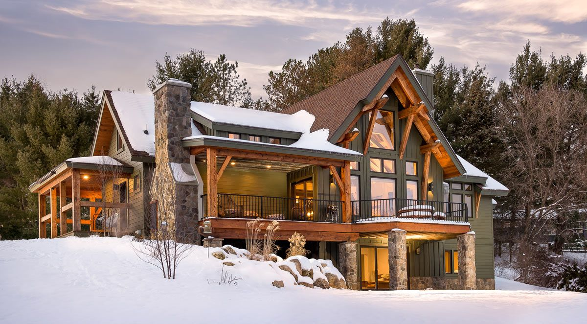Picture Gallery Of Our Award Winning Timber Frame Homes We Design Craft And Install These Energy Effi Rustic Houses Exterior Rustic House Plans Timber House