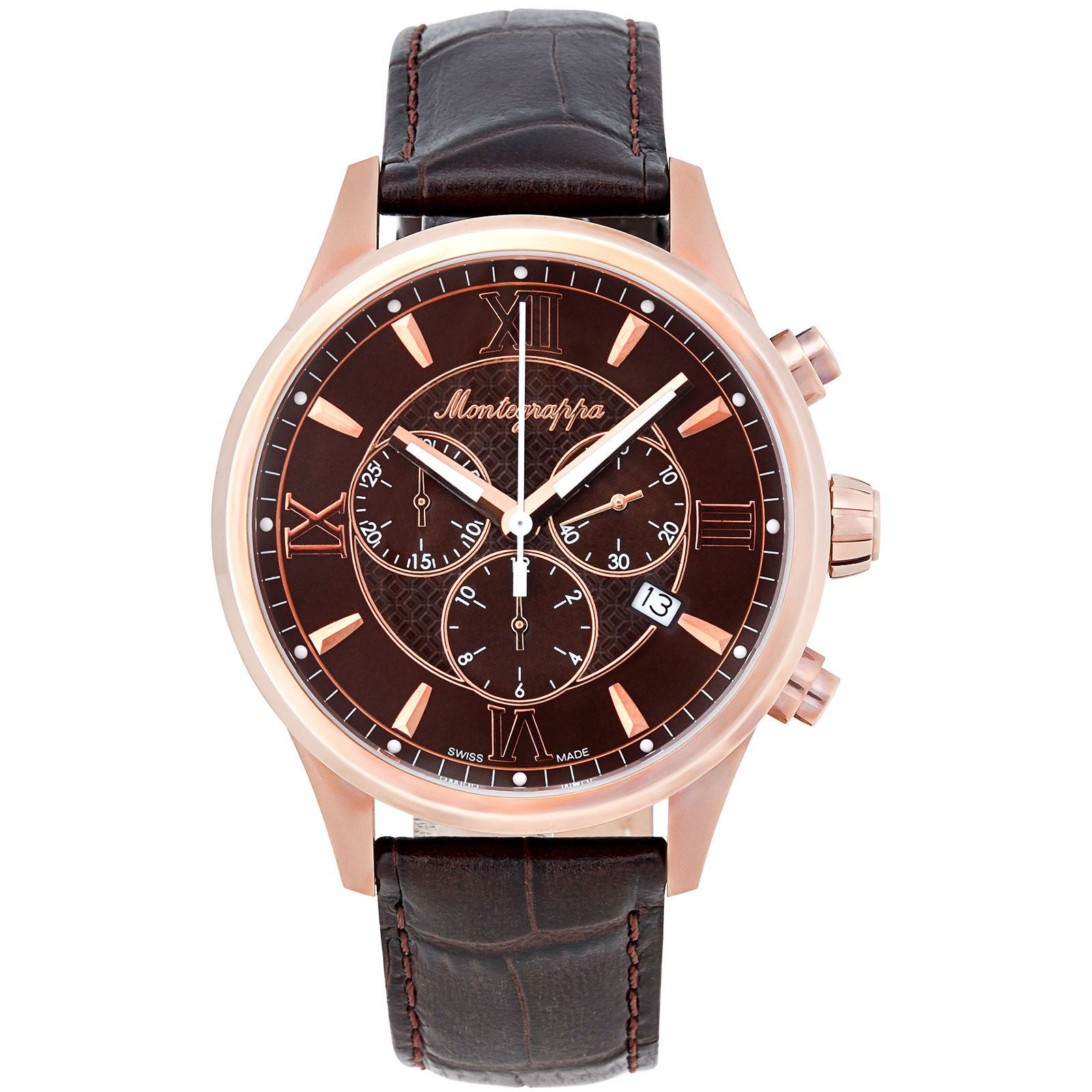 c1fa49645ba Montegrappa Fortuna Chronograph Men S Rose Gold Watch Idfowcmm Swiss Made