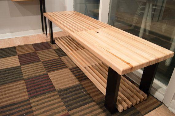 Admirable 36 60 Maple Bench Coffee Table With Shoe Rack Or Storage Creativecarmelina Interior Chair Design Creativecarmelinacom