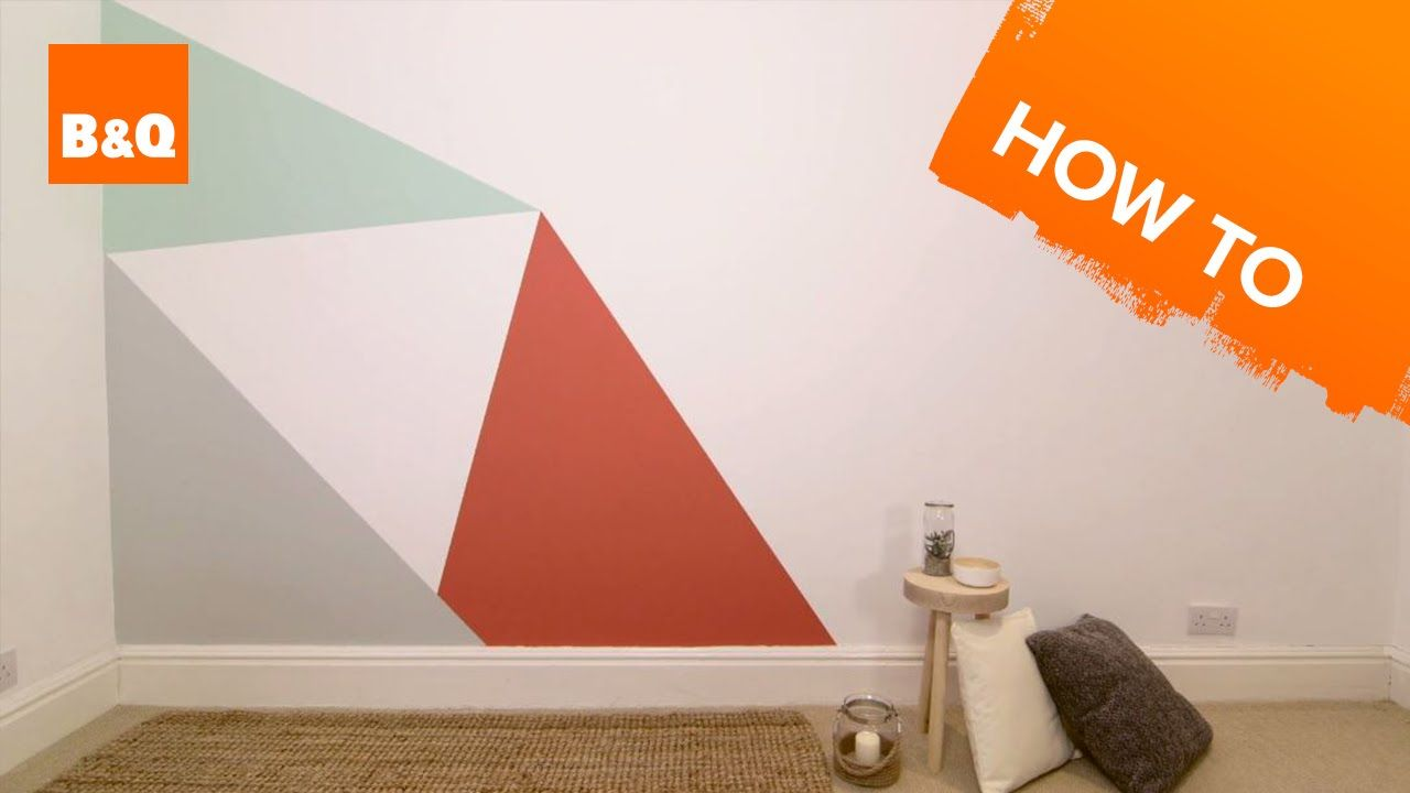 Image result for geometric wall paint