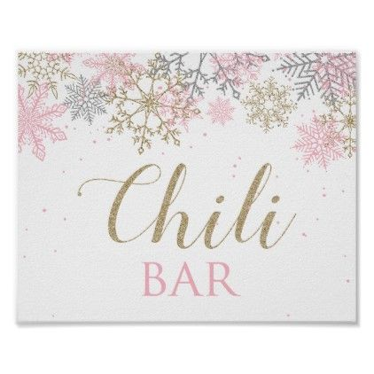 Winter Wonderland Birthday Chili Bar Sign | Zazzle.com