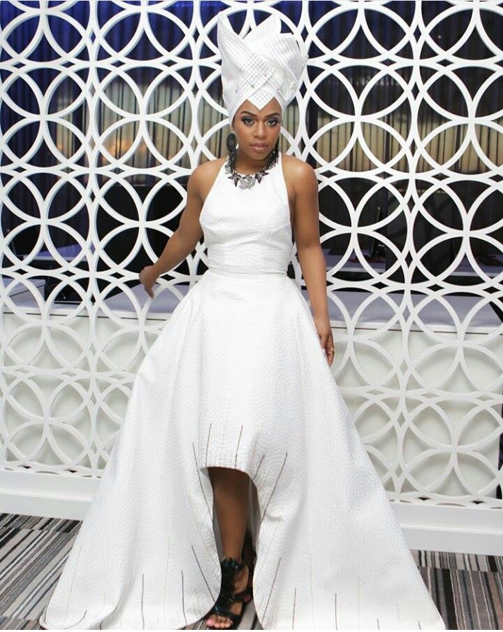 Nomzamo Mbatha All white Evening gown Cute white dress