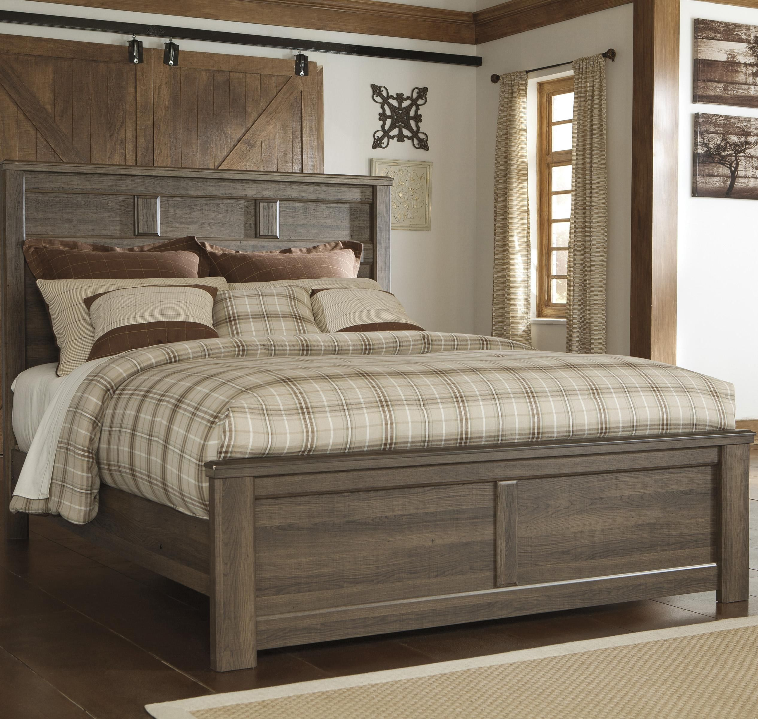 Juararo Transitional Queen Panel Bed By Signature Design By Ashley Panel Bed Bedroom