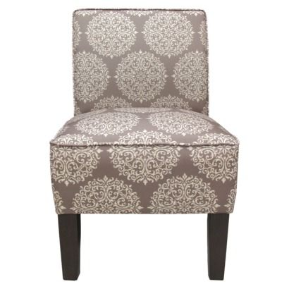 Burke Armless Slipper Chair   Brown/Gray Medallion (Target) (Chair  Dimensions: