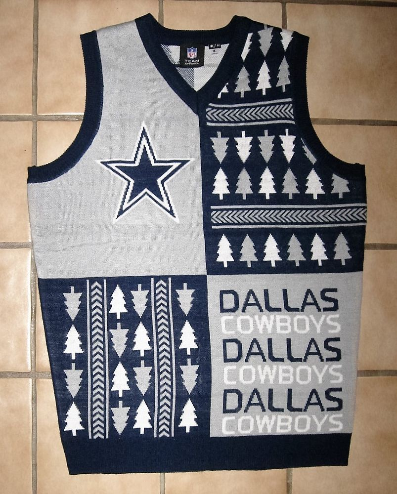 Dallas Cowboys #NFL #Football Ugly Christmas Sweater Vest New W ...