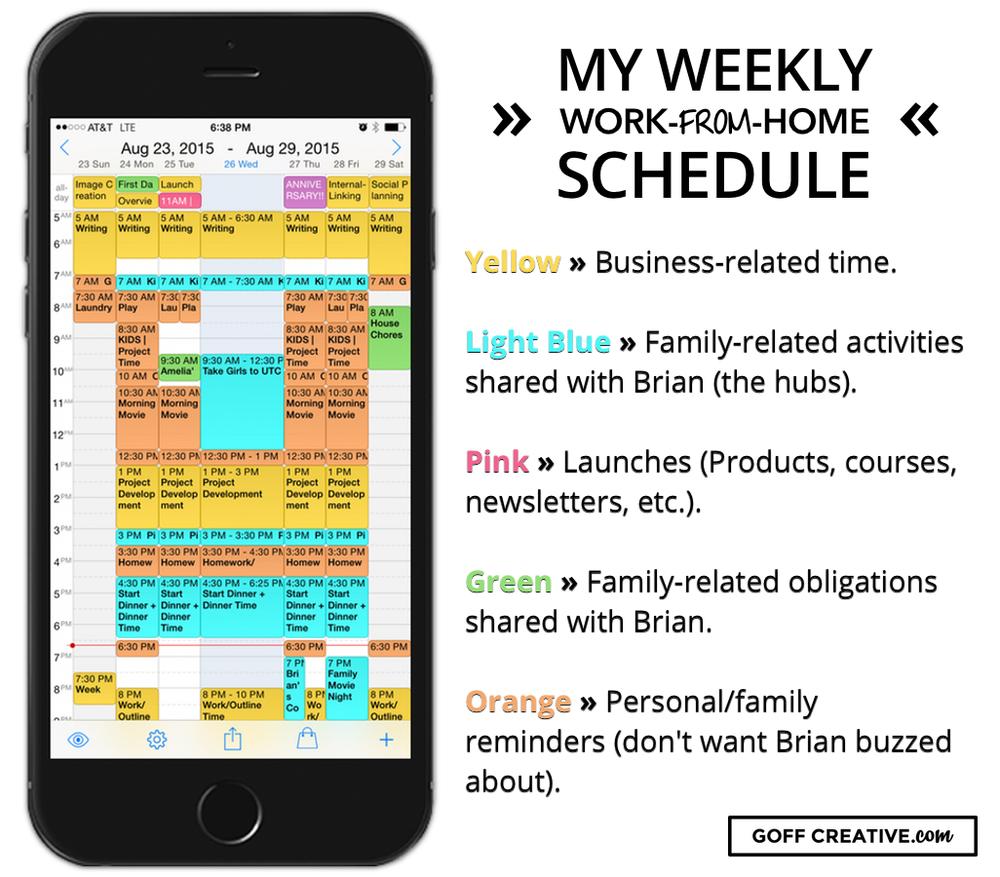 weekly schedule example