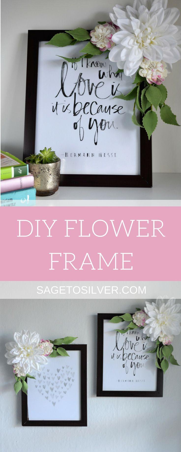 DIY Flower Frame | Flower frame, Diy flower and Diy room decor