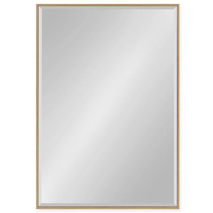 Kate And Laurel Rhodes 37 Inch X 25 Inch Wall Mirror In Teak