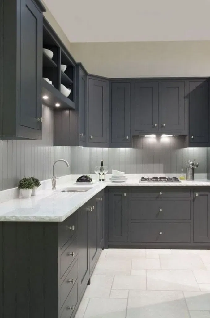 20 Elegant Dark Grey Kitchen Cabinets Paint Colors Ideas  ...