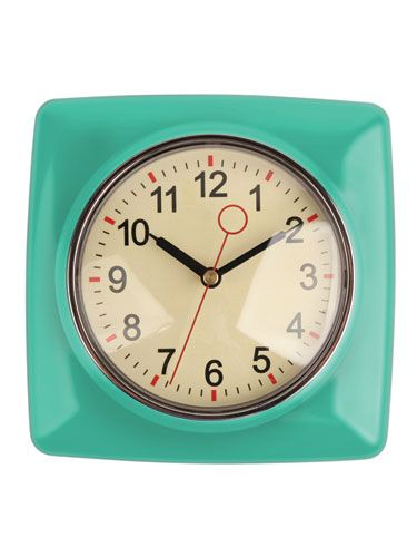 Retro Kitchen Clock Nifty Made Of Metal And Glass Not Plastic