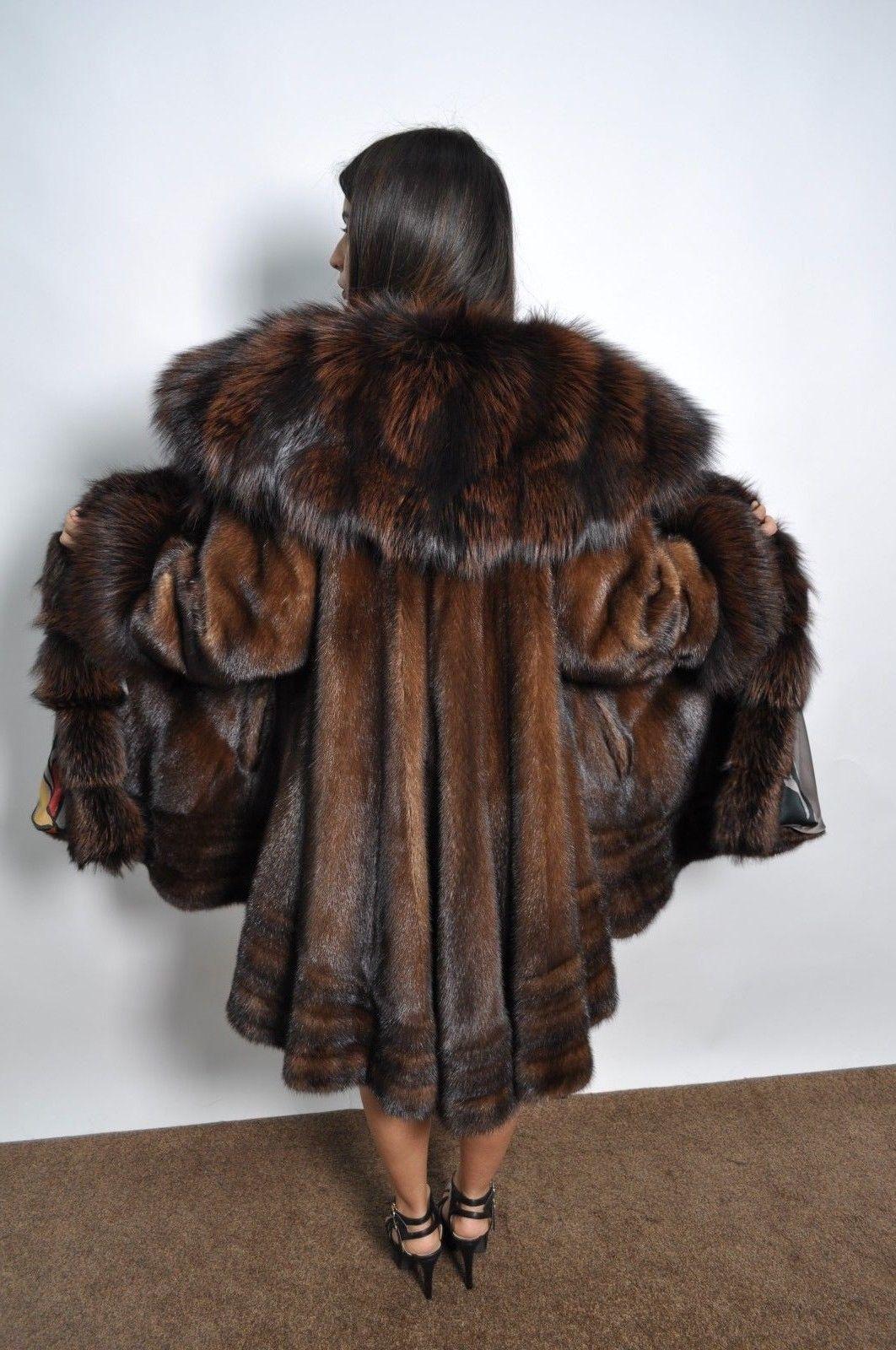 Brown Saga Mink Long Trench Fur Coat Class Jacket Chinchilla Fox Sable Vest Fur Coat Fur Fur Coats Women [ 1600 x 1062 Pixel ]