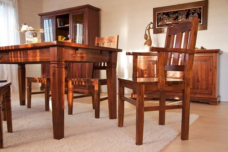 essgruppe 180cm siena esstisch 6 st hle akazie massiv braun essgruppen st hle. Black Bedroom Furniture Sets. Home Design Ideas