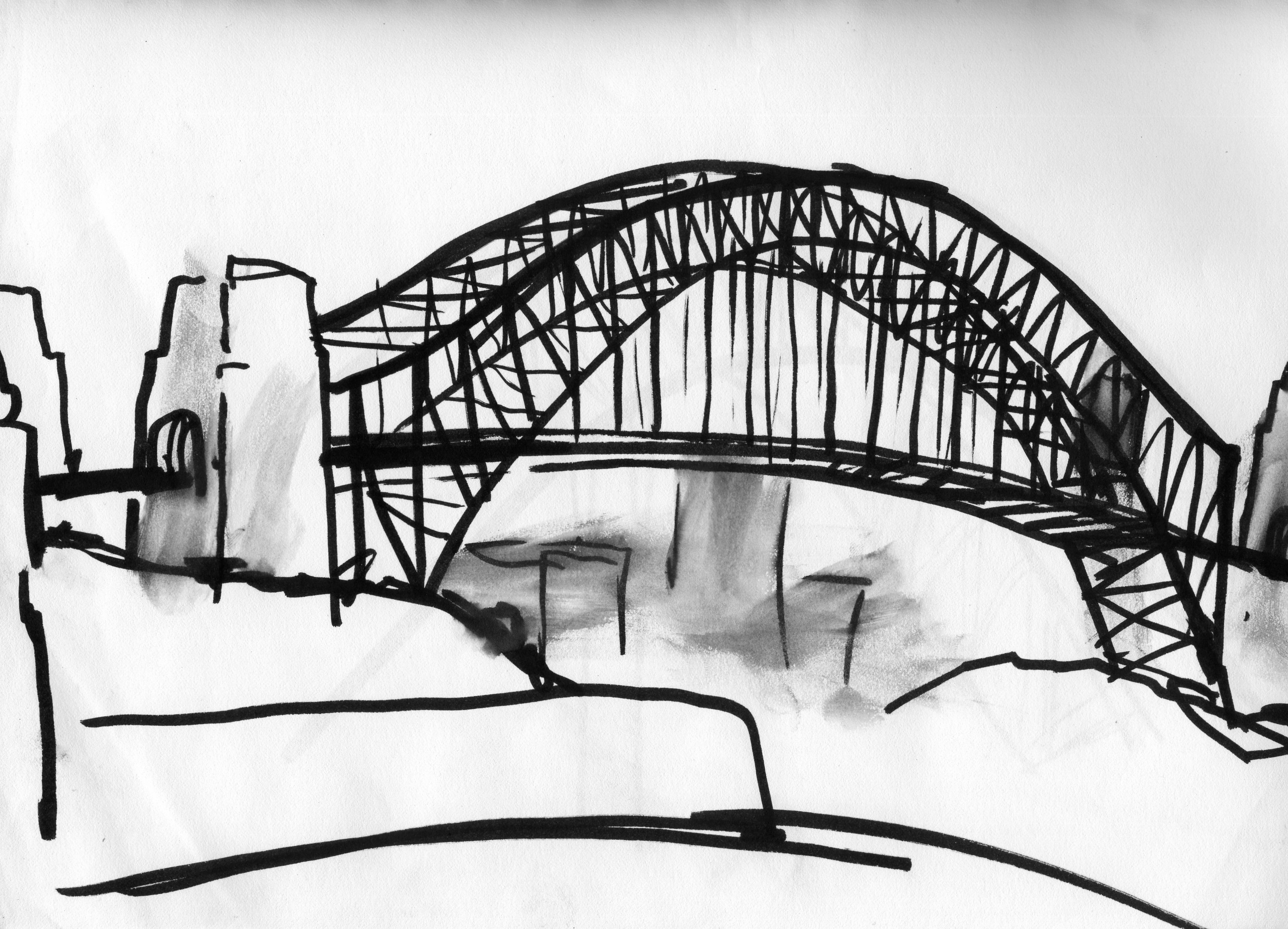 architectural drawings of bridges. Old Drawing Of Sydney Harbour Bridge Architectural Drawings Bridges S