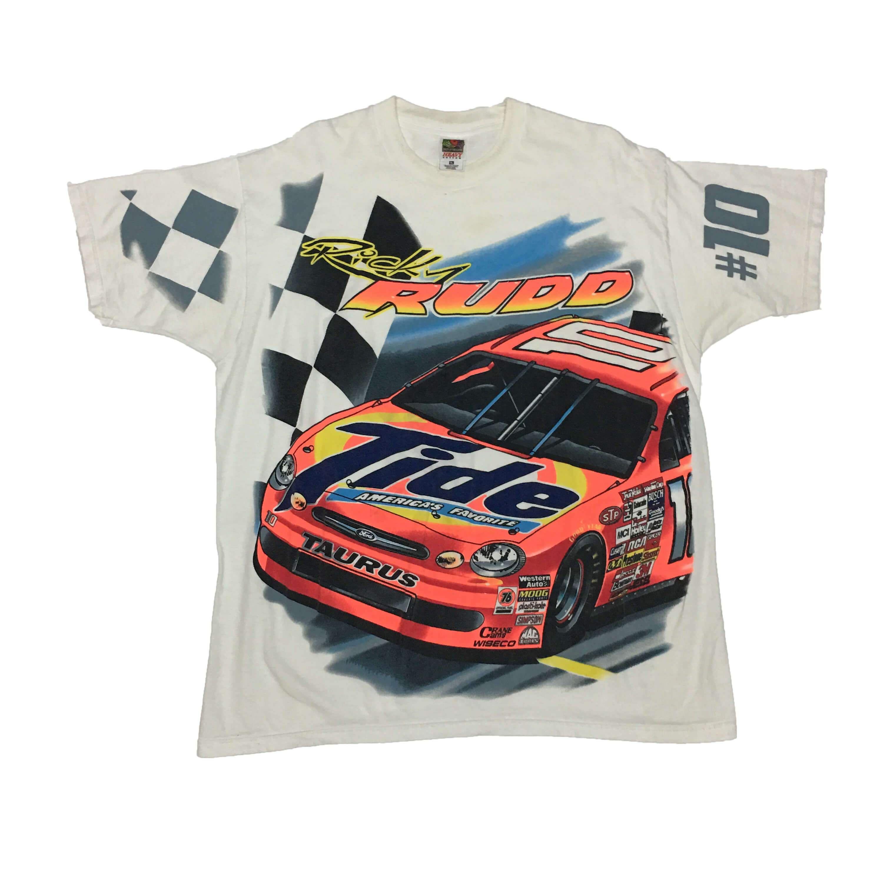 Vintage Nascar Ricky Rudd 10 T Shirt X Large T Shirt Racing Shirts Shirts