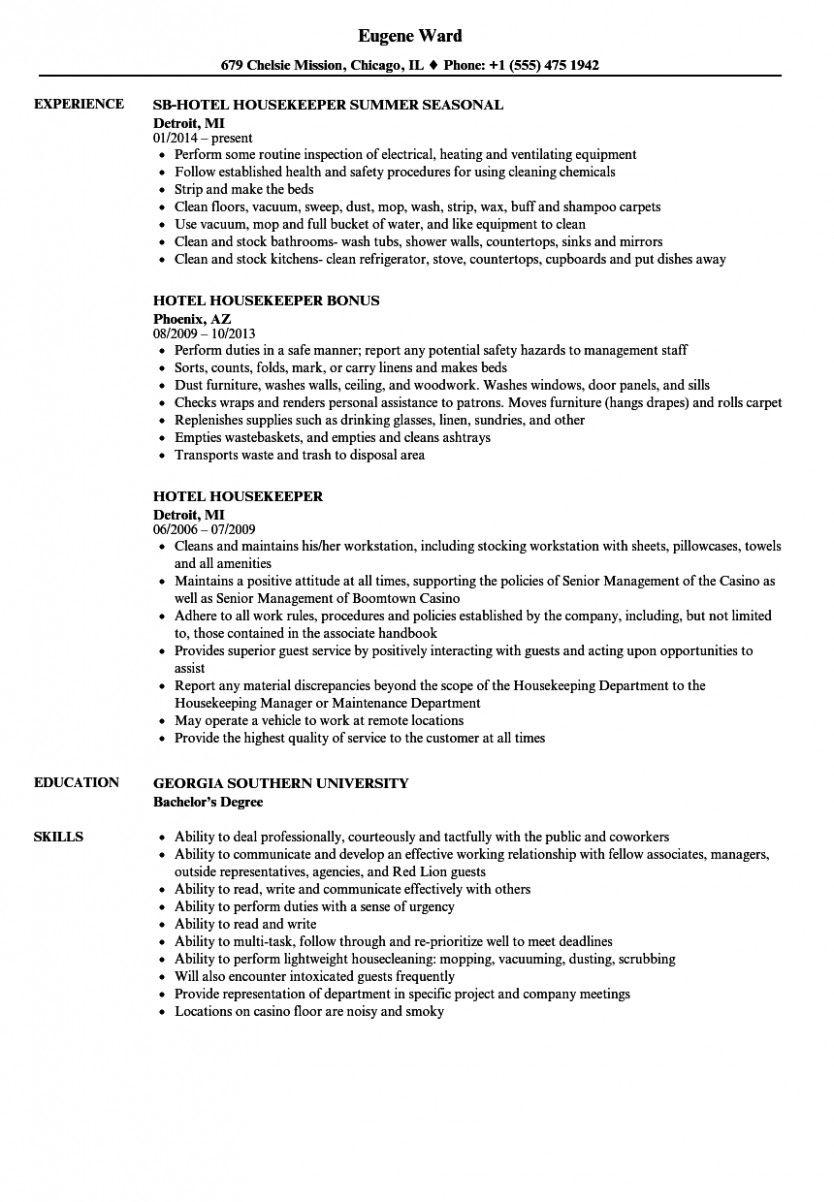 13 Housekeeping Resume Pattern Resume References Resume Job Resume Format