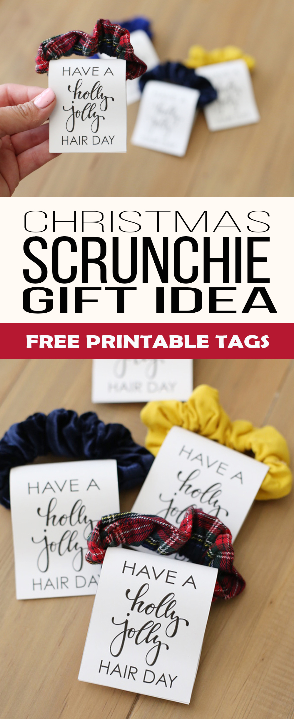 Hair Scrunchie Christmas Gift Idea - See Vanessa Craft #diychristmasgifts