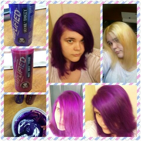 my new hair i mixed manic panic hot hot pink and manic panic ultra violet this is the result. Black Bedroom Furniture Sets. Home Design Ideas