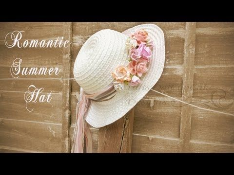 DIY Romantic Floral Summer Hat - YouTube  69c3cc01b6e3