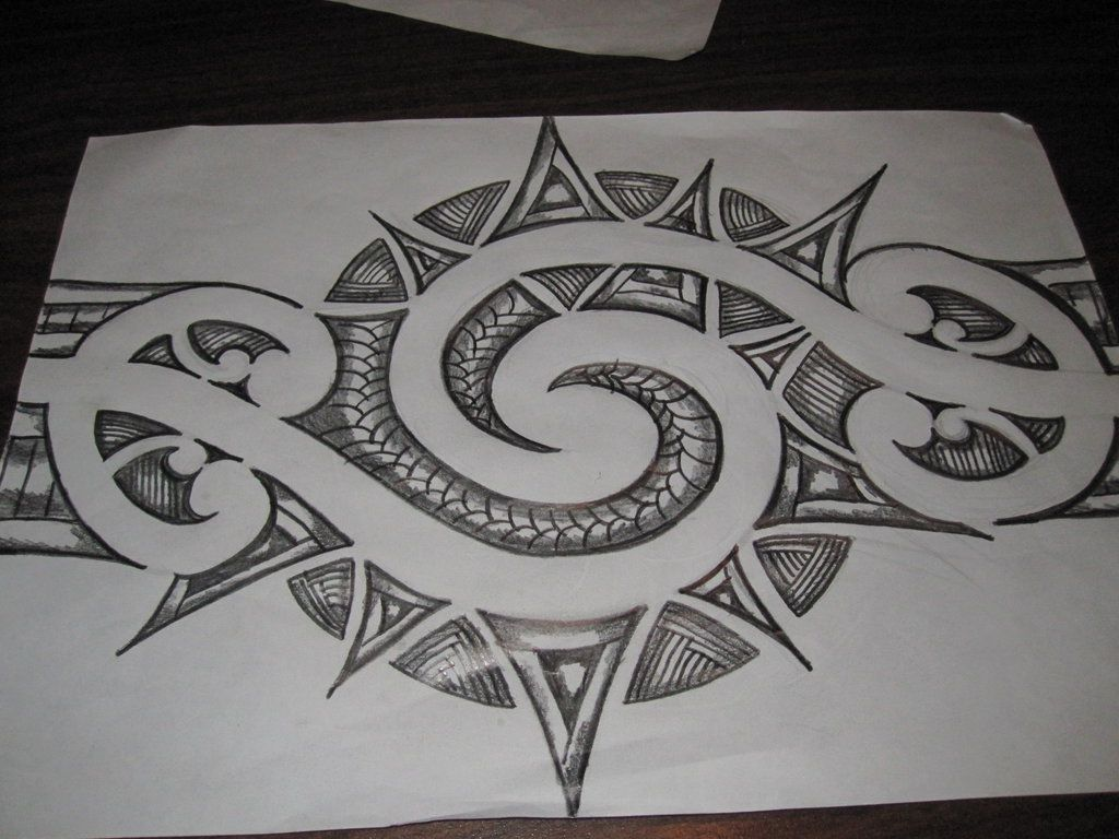 Deviantart more like maori inspired tattoo design pencil sketch