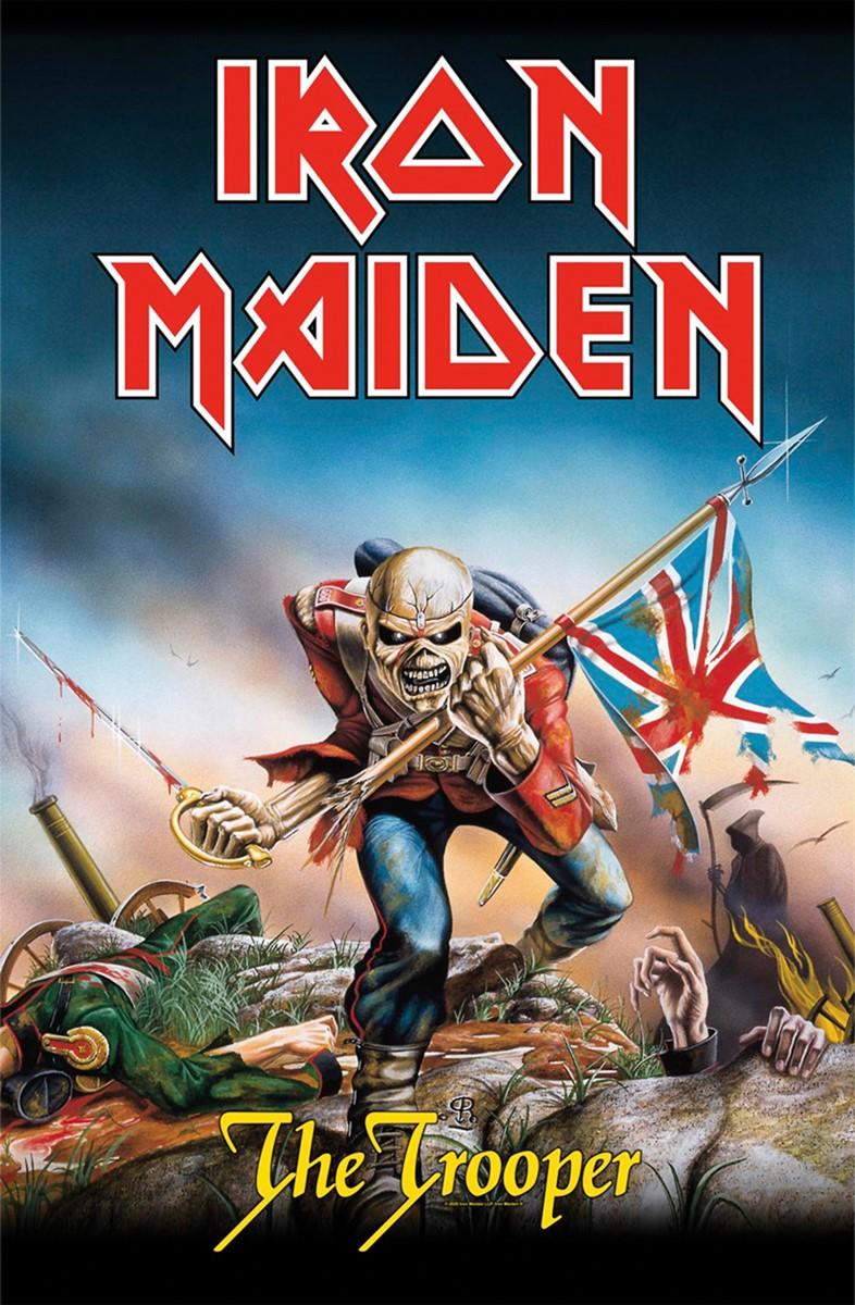 Iron Maiden The Trooper Textile Flag Iron Maiden Albums Iron Maiden Album Covers Iron Maiden The Trooper