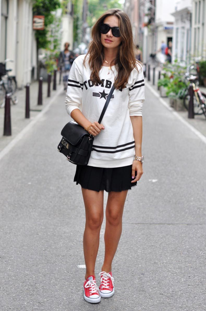 tomboy sweater and converse sneakers 5 674x1014 | Moda