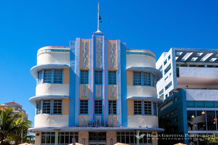 Us Florida Miami Beach Art Deco The Marlin Hotel Collins Ave