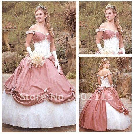 Romantische Stil der Schulter Custom Made viktorianischen Ballkleid ...