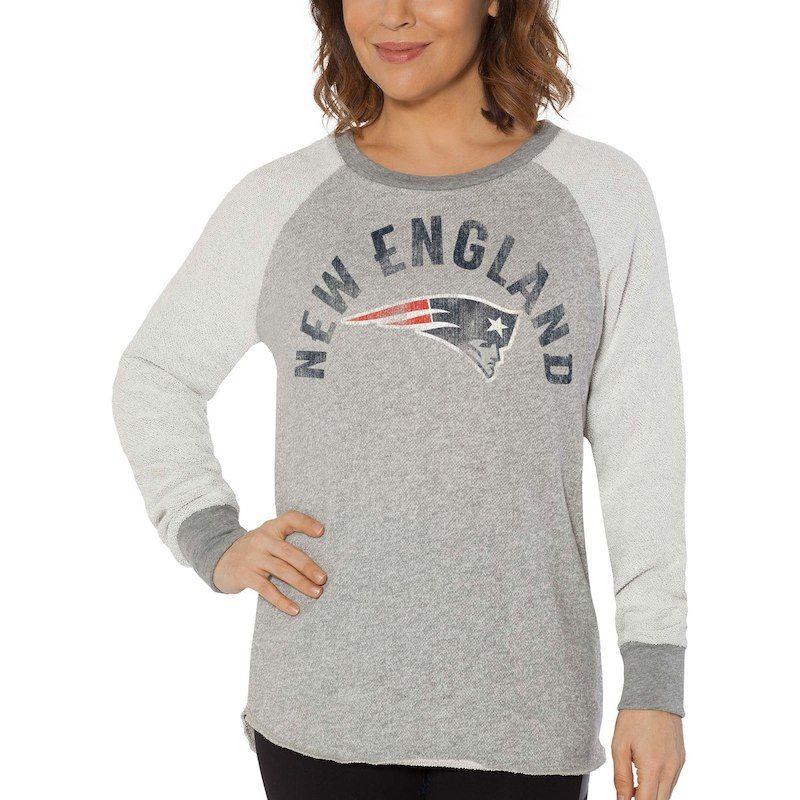 New England Patriots Touch by Alyssa Milano Women s Gridiron Pullover  Sweatshirt – Charcoal 60675cca6