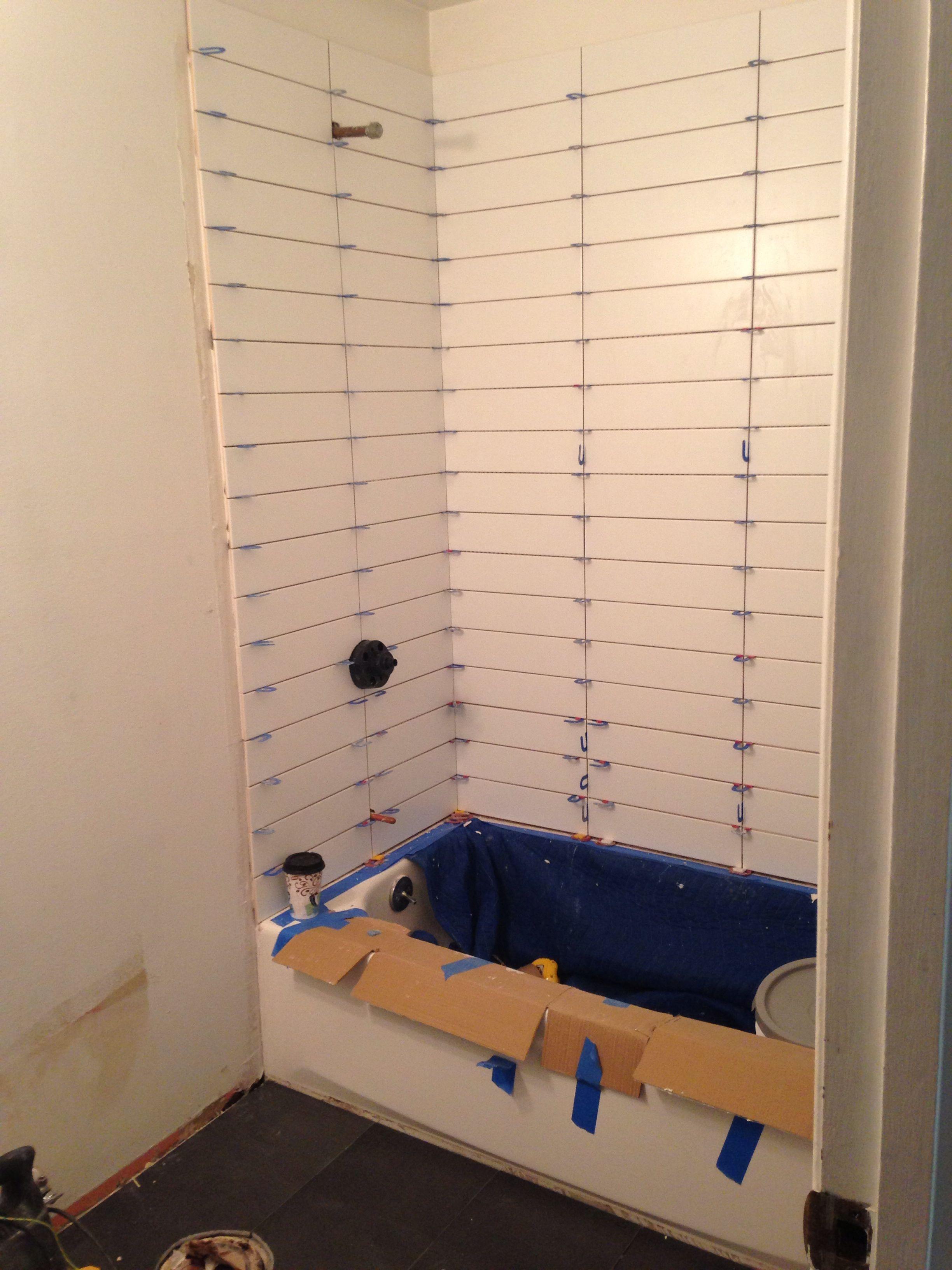 Bathroom Tile: Shower Tile. 4x16 Subway Tile, Matte Finish. Stacked
