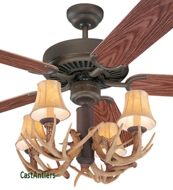 52 Antler Indoor Outdoor Ceiling Fan Rustic Ceiling Fan Ceiling Fan Rustic Lighting