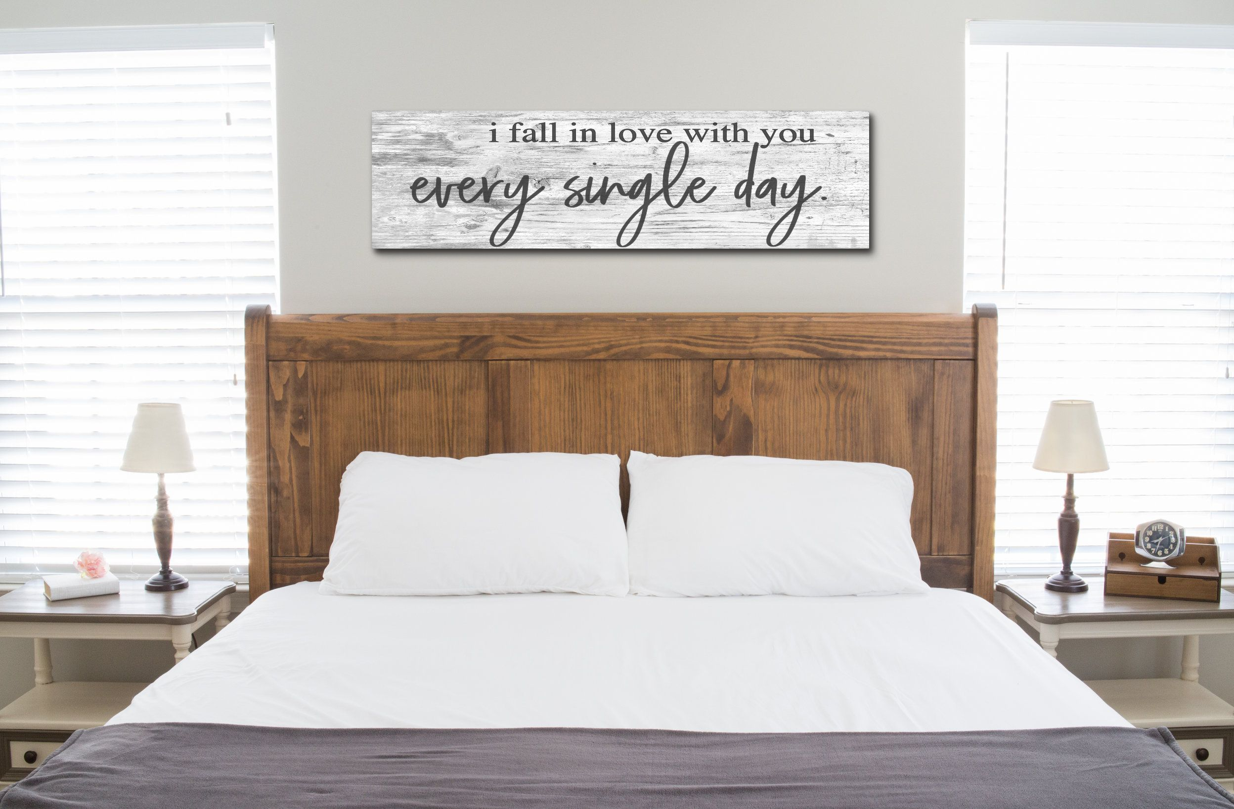 This Rustic Romantic Bedroom Sign Will Give Your Bedroom Space