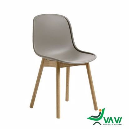 NEU cafe chair dining chair with beautiful imitation wood legs TH441