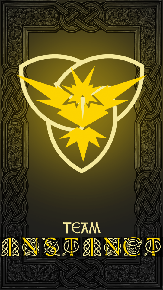 Device Wallpaper Team Instinct By Ricepoison Pokemon Go Team Instinct Pokemon Realistic Pokemon Teams