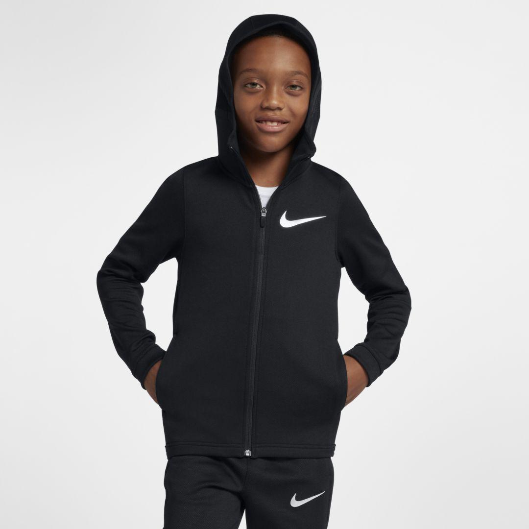 d5ef3593a Nike Dri-FIT Therma Flex Big Kids' (Boys') Full-Zip Basketball Hoodie Size  XL (Black)