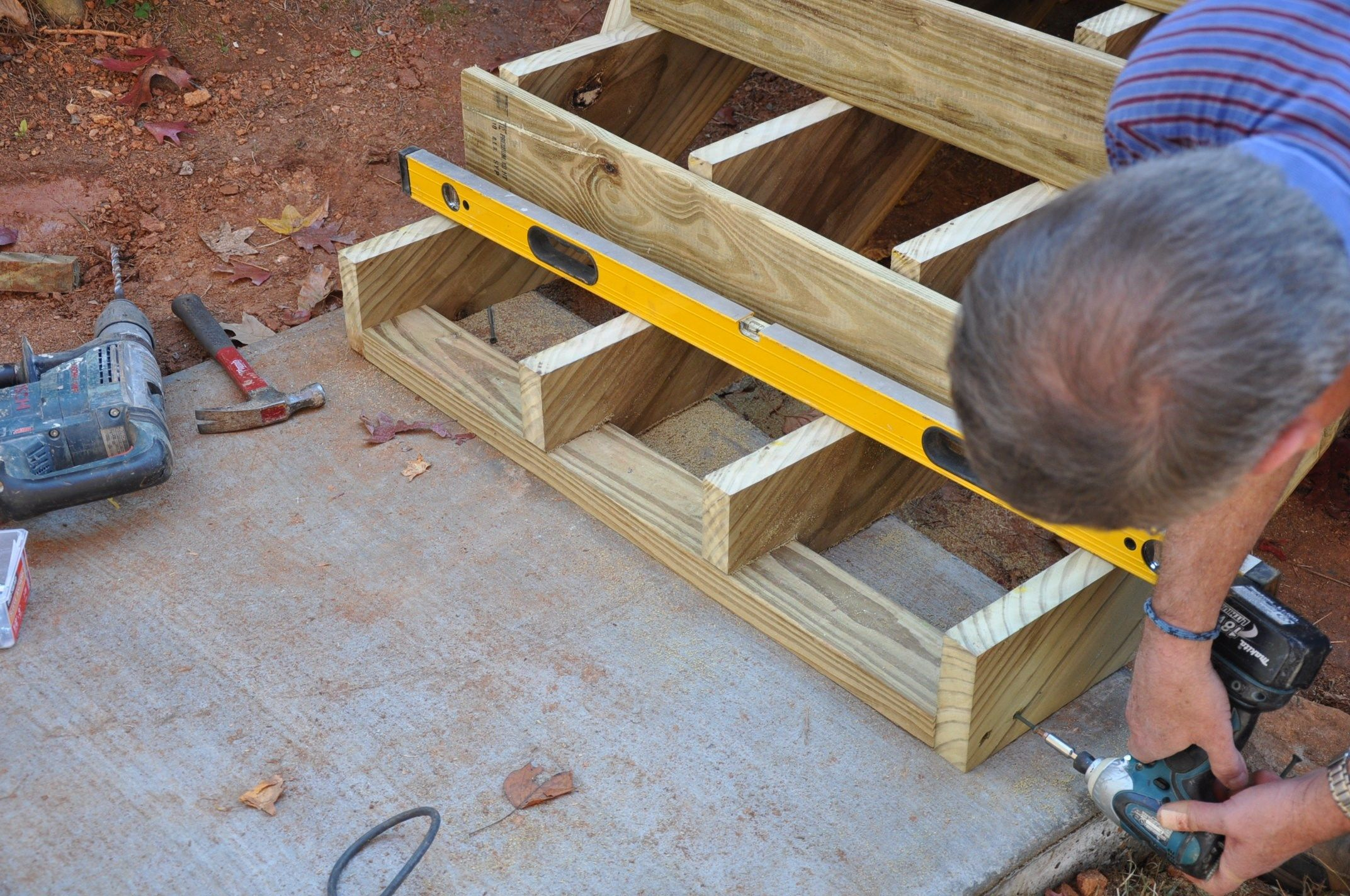 Best Anchoring Deck Stairs Deck Stairs Deck Stairs Landing 640 x 480