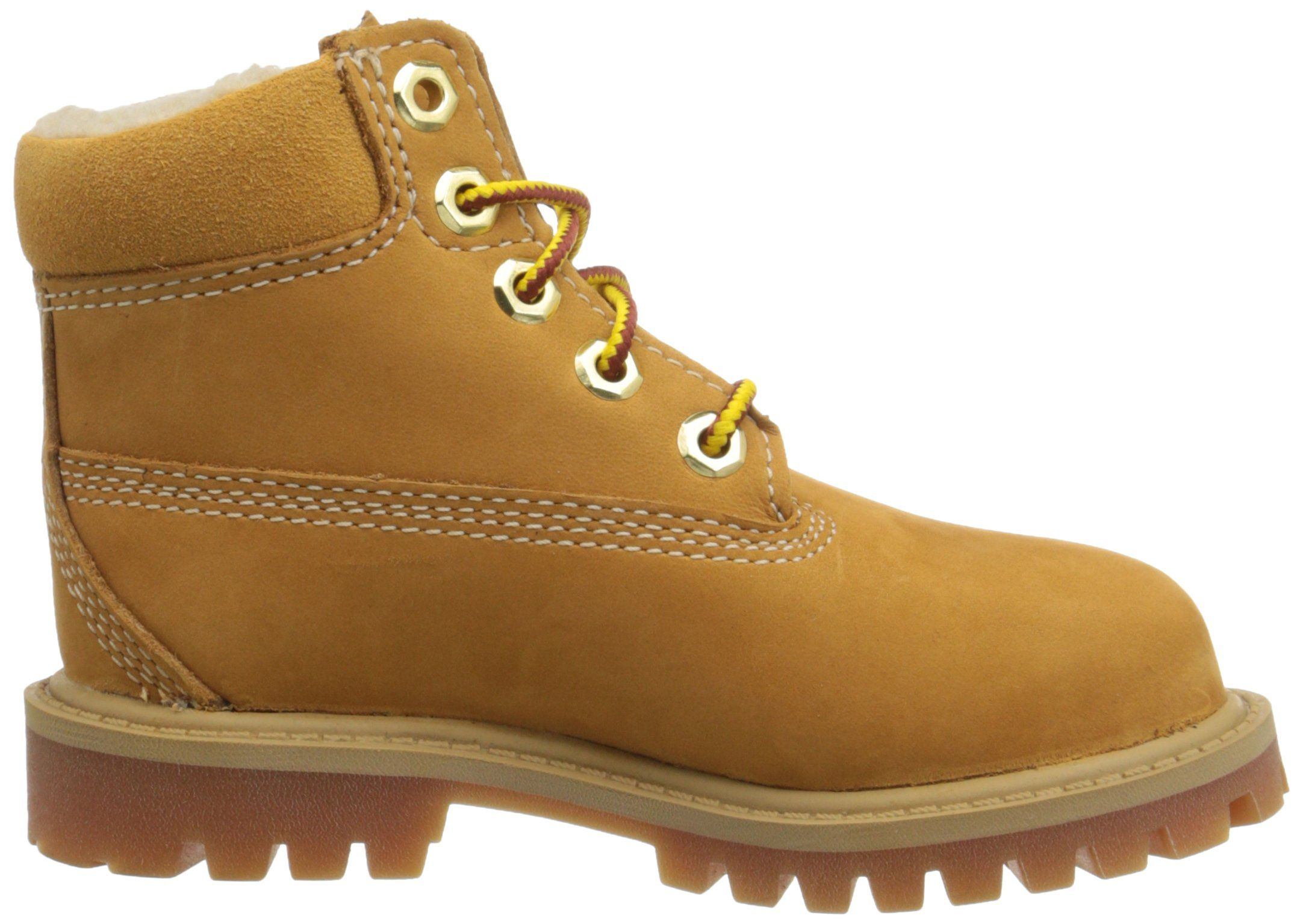 c16c463ac539 Timberland 6 Inch Premium with Faux Shearling Boot Closure Toddler Little  Kid Big Kid Wheat Nubuck 5 M US Toddler     To view further for this item