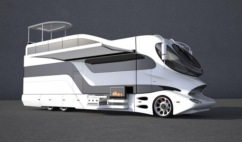 Caravan. BIG !!! Luxury motorhomes, Mobile home, Motorhome