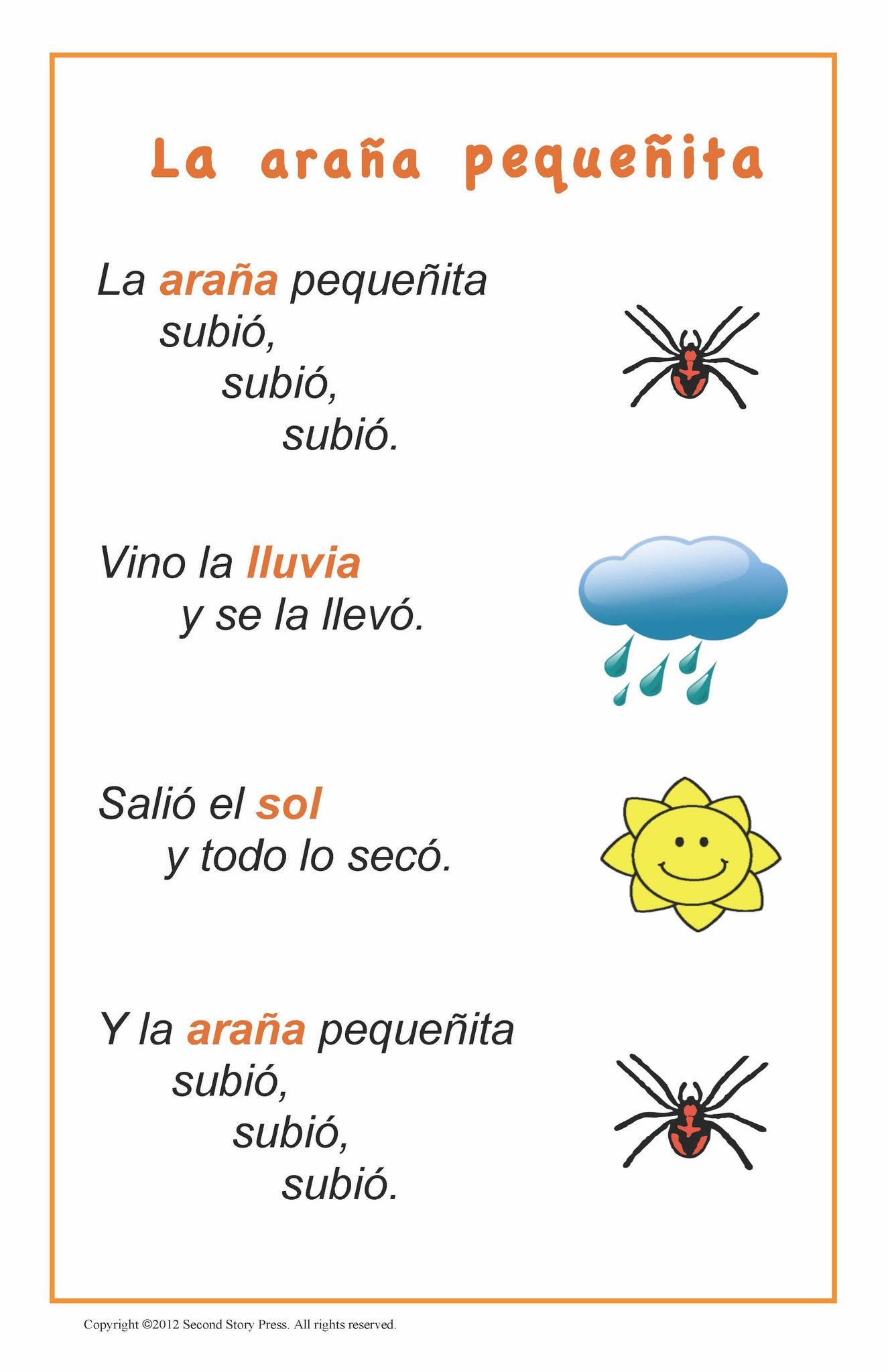spanish songs and rhymes therapy materials preschool spanish learning spanish spanish songs. Black Bedroom Furniture Sets. Home Design Ideas