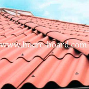 Red Color Fiber Cement Corrugated Roof Tile Techo De Lamina Casas En Mexico Techos