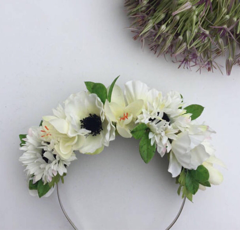 Cream Flower Headband Cream Flower Crown Daisy Hair Flower
