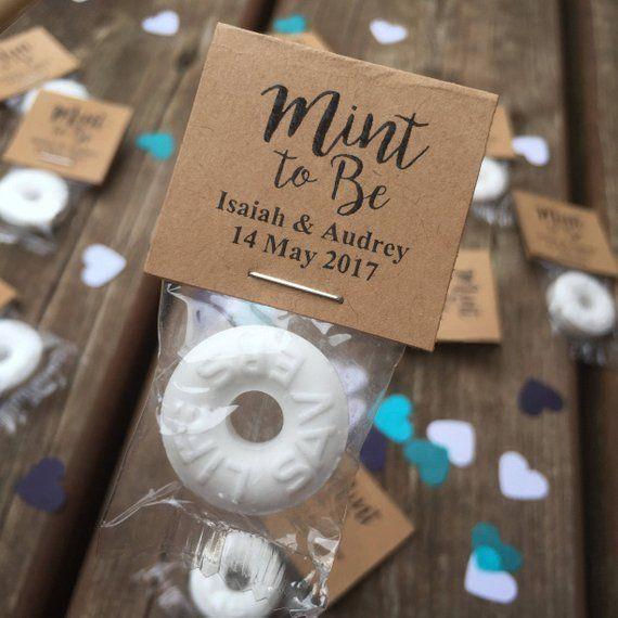 100 Custom Wedding Mints Kraft Brown Mint To Be Wedding Favors