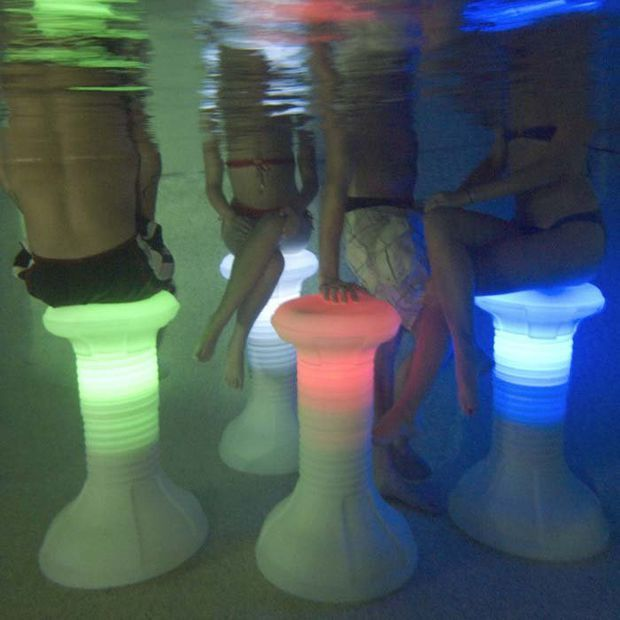 The Pool Stool Underwater Pool Chair At Brookstoneu2014Buy Now!