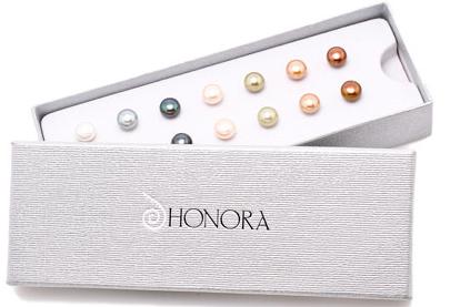Honora 8mm Black On Pearl Stud Earrings Item 19043082 Reeds Jewelers Pearls Pinterest And
