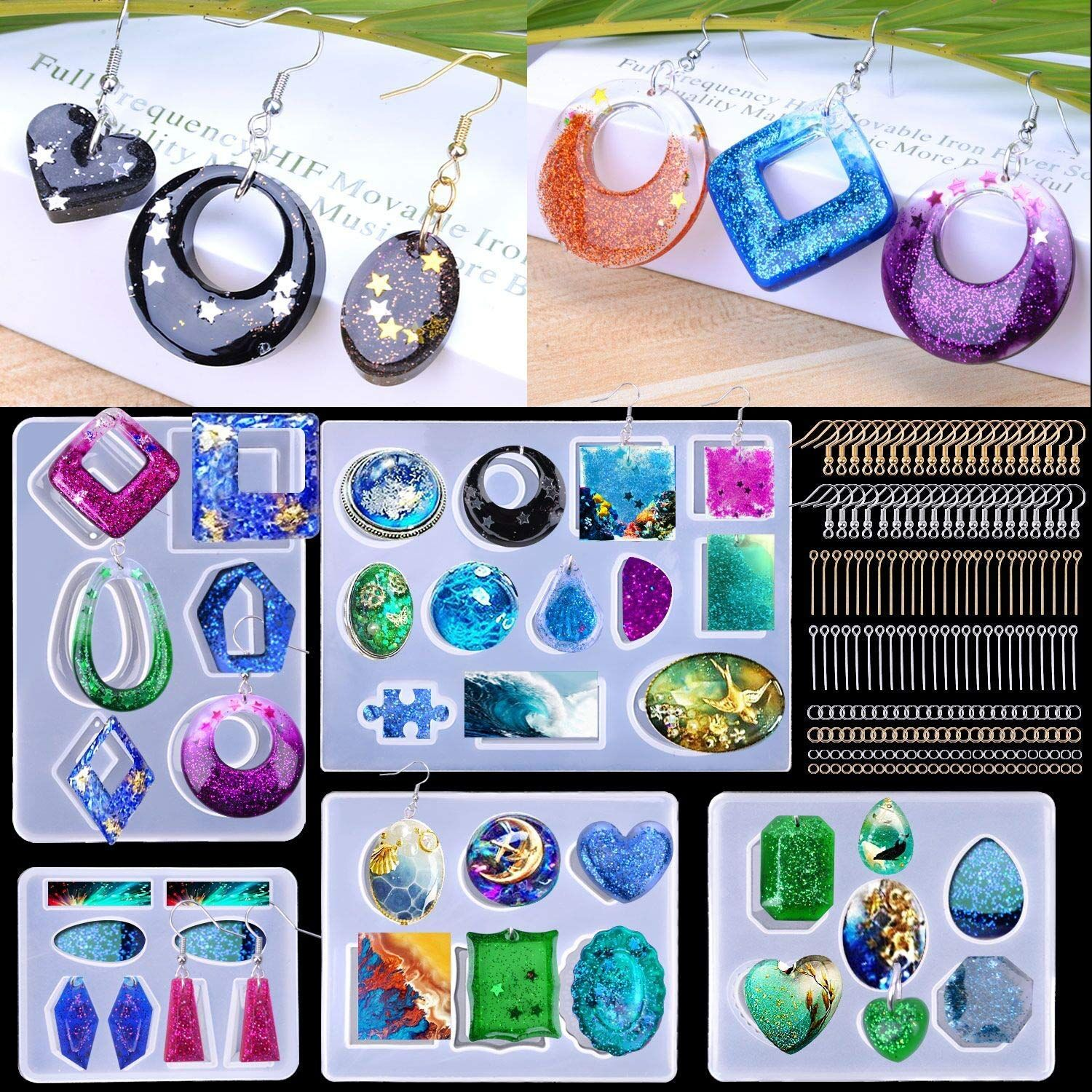 how to make resin earrings without molds