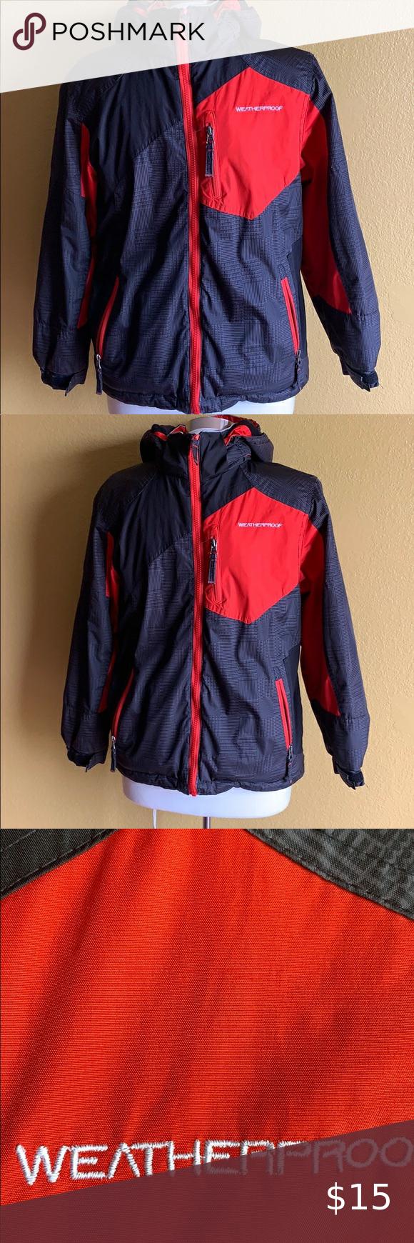 Weatherproof Boys Coat Size Medium Boys Coat Weatherproof Jacket Kids Jacket [ 1740 x 580 Pixel ]