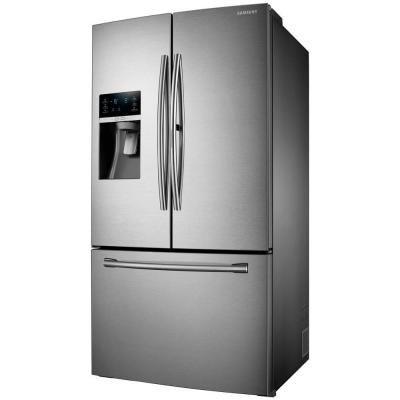 Samsung 27 8 Cu Ft Food Showcase French Door Refrigerator In Stainless Steel Rf28hdedbsr French Door Refrigerator French Doors Showcase Design
